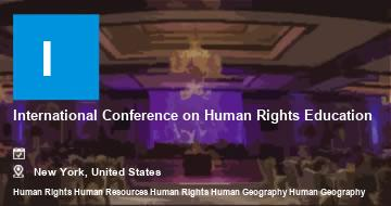 International Conference on Human Rights Education    New York   2021