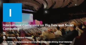 International Conference on Big Data and Smart Computing    Boston   2021