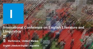International Conference on English Literature and Linguistics   Baltimore   2021