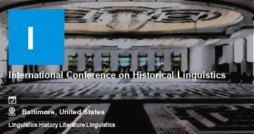 International Conference on Historical Linguistics   Baltimore   2021