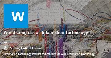 World Congress on Information Technology    Dallas   2021