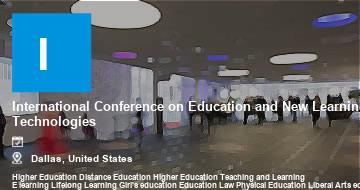 International Conference on Education and New Learning Technologies    Dallas   2021