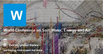 World Conference on Soil, Water, Energy and Air    Detroit   2021
