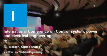 International Conference on Control system, power and electrical engineering    Boston   2021