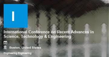 International Conference on Recent Advances in Science, Technology & Engineering    Boston   2021