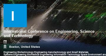 International Conference on Engineering, Science and Technology    Boston   2021