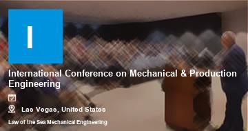 International Conference on Mechanical & Production Engineering    Las Vegas   2021