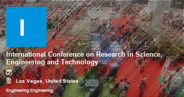International Conference on Research in Science, Engineering and Technology    Las Vegas   2021